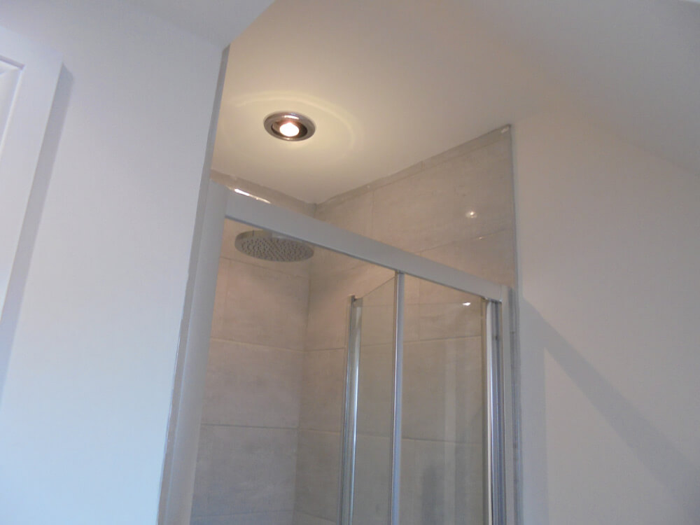 Shower fan light
