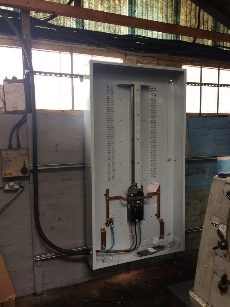 Start of panel wiring